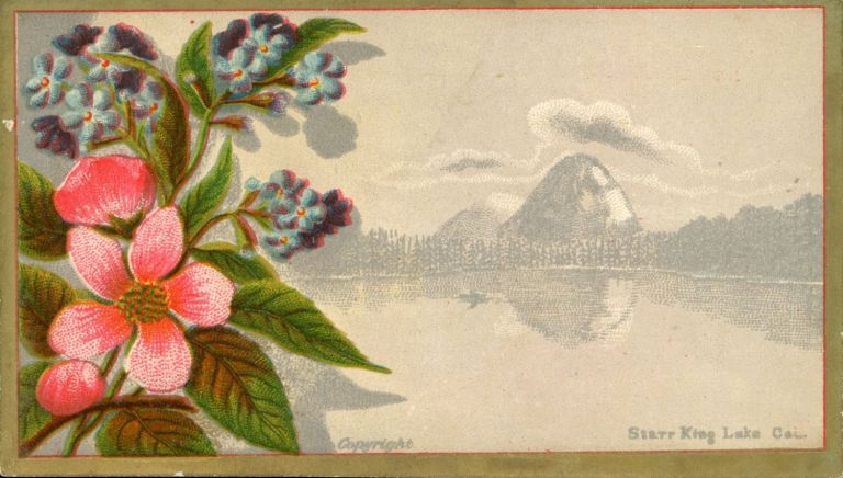 Starr King Lake Cal [caption title]. Victorian sentiment card, Anonymous publisher.