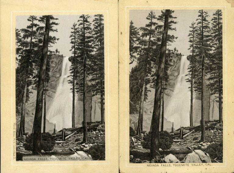 Nevada Falls, Yosemite Valley, Cal. [caption title]. Advertising cards, DAYTON SPICE MILLS CO.