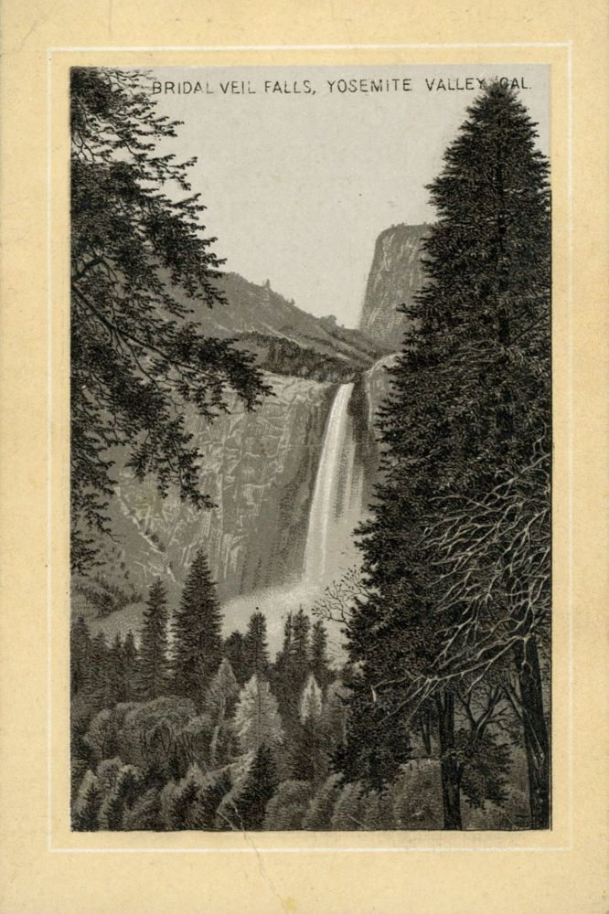 Bridal Veil Falls, Yosemite Valley, Cal. [caption title]. Advertising card, DAYTON SPICE MILLS CO.