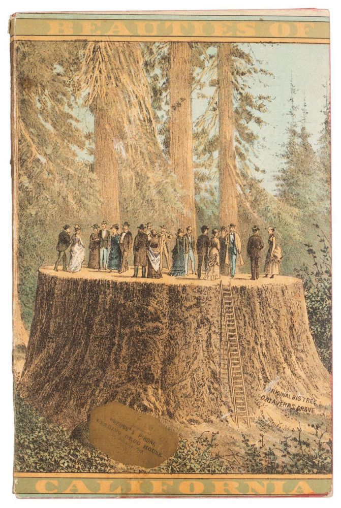 Beauties of California copyright 1883, by N. W. Griswold. Views and descriptions of Yosemite Valley, big trees, geysers, Lake Tahoe, Donner Lake, San Francisco, '49 & '83, Los Angeles, and towns, orange groves and vineyards of Southern California. NORMAN W. GRISWOLD.