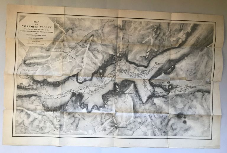 Map of the Yosemite Valley from surveys made by order of the Commissioners to Manage the Yosemite Valley and Mariposa Big Tree Grove by C. King and J. T. Gardner 1865. Drawn by J. T. G. CALIFORNIA. STATE GEOLOGIST, JOSIAH DWIGHT WHITNEY.