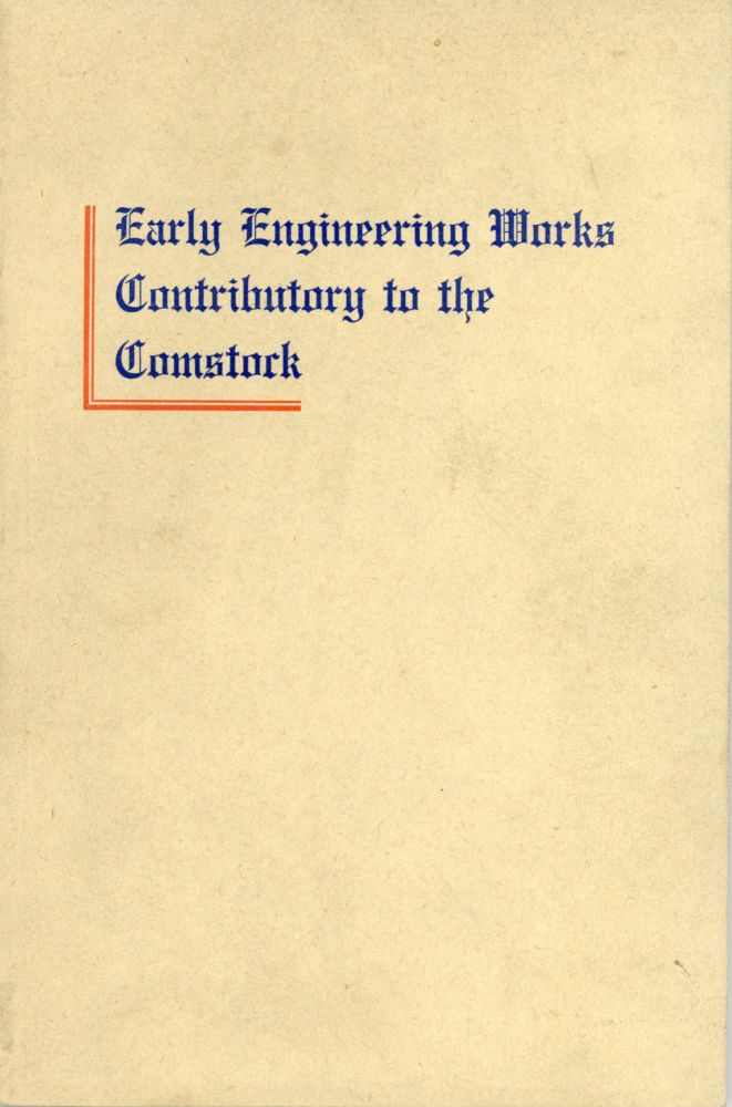 Early engineering works contributory to the Comstock by John Debo Galloway ... Publication of the Nevada State Bureau of Mines and the Mackay School of Mines[.] Jay A. Carpenter, Director. JOHN DEBO GALLOWAY.