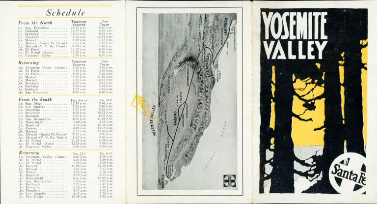 Yosemite Valley[.] Santa Fe [cover title]. TOPEKA AND SANTA FE RAILWAY ATCHISON.