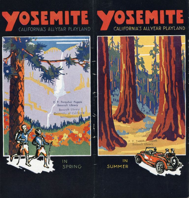 Yosemite California's all-year playland in spring in summer [in autumn in winter] [cover title]. YOSEMITE PARK AND CURRY COMPANY.