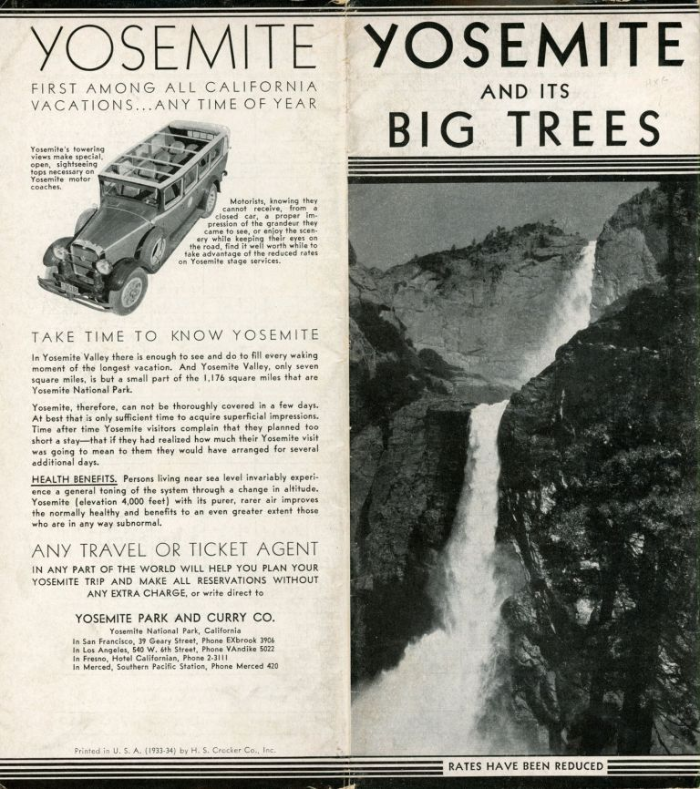 Yosemite and its Big Trees ... [cover title]. YOSEMITE PARK AND CURRY COMPANY.