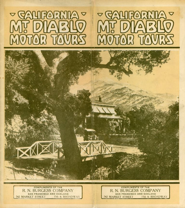 CALIFORNIA MT. DIABLO MOTOR TOURS ... [cover title]. California, Contra Costa County, Mount Diablo.