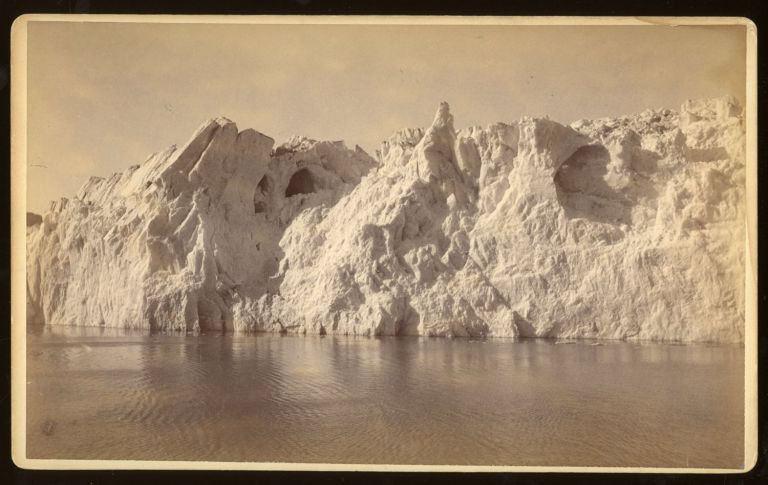 FACE OF MUIR GLACIER, FROM STEAMER. No. 5034. Albumen print. Frank Jay Haynes.