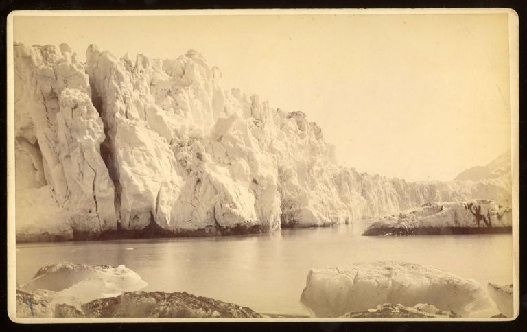FACE OF MUIR GLACIER, FROM THE TOP. No. 5038. Albumen print. Frank Jay Haynes.