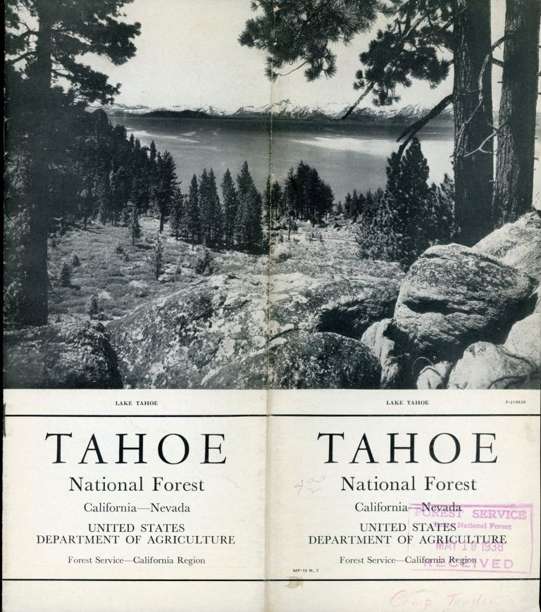 Tahoe National Forest California -- Nevada United States Department of Agriculture Forest Service -- California Region [cover title]. UNITED STATES. DEPARTMENT OF AGRICULTURE. FOREST SERVICE. CALIFORNIA DISTRICT.