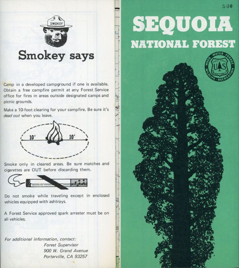 Sequoia National Forest[.] U. S. Department of Agriculture Forest Service California Region [cover title]. UNITED STATES. DEPARTMENT OF AGRICULTURE. FOREST SERVICE. CALIFORNIA DISTRICT.