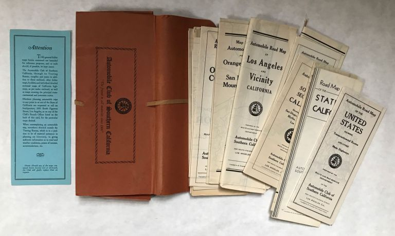21 MAPS OF SOUTHERN CALIFORNIA. Automobile Club of Southern California.