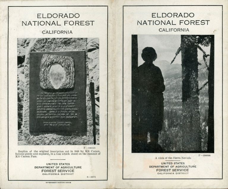 Eldorado National Forest California ... United States Department of Agriculture Forest Service California District [cover title]. UNITED STATES. DEPARTMENT OF AGRICULTURE. FOREST SERVICE. CALIFORNIA DISTRICT.
