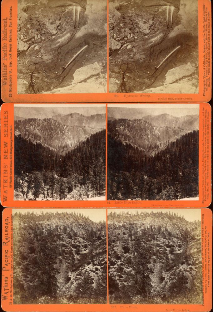 COLLECTION OF 27 STEREOSCOPIC PHOTOGRAPHS OF THE CENTRAL PACIFIC RAILROAD AND ADJACENT AREAS TAKEN FOR THE C. P. R. R. BY ALFRED A. HART FROM 1864 TO 1869. Central Pacific Railroad, Alfred A. Hart.