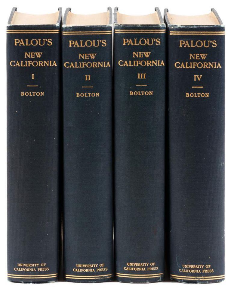 HISTORICAL MEMOIRS OF NEW CALIFORNIA BY FRAY FRANCISCO PALÓU, O. F. M. TRANSLATED INTO ENGLISH FROM THE MANUSCRIPT IN THE ARCHIVES OF MEXICO[.] EDITED BY HERBERT EUGENE BOLTON. Francisco Palóu.