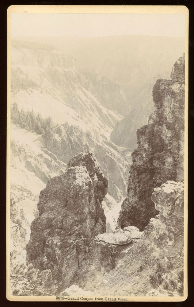 GRAND CANYON FROM GRAND VIEW. No. 3678. Gelatin silver print. Yellowstone National Park, Frank Jay Haynes.