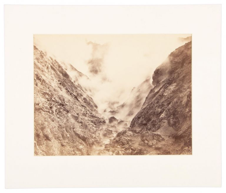 GEYSER CANYON, FROM DEVIL'S PULPIT. No. A 382. Albumen print. California, Sonoma County, The Geysers.