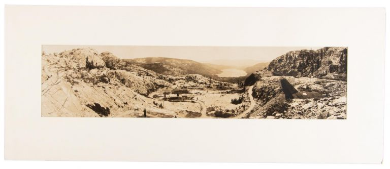 DONNER LAKE FROM SUMMIT -- LINCOLN HIGHWAY. Gelatin silver print. California, Nevada County, Sierra Nevada, Donner Lake.