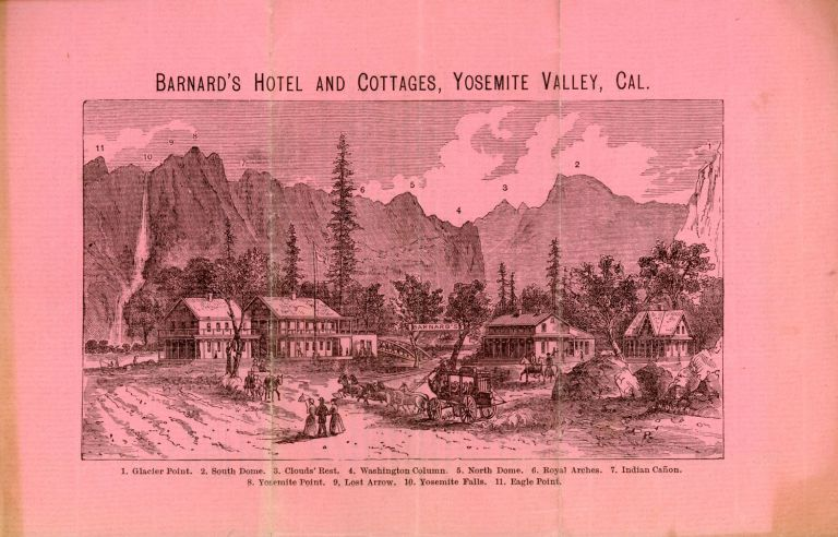 Barnard's hotels and cottages, Yosemite Valley, Cal. ... [caption title]. BARNARD'S YOSEMITE FALLS HOTEL.