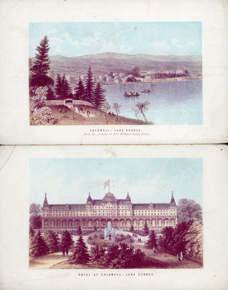 NELSON'S GUIDE TO LAKE GEORGE AND LAKE CHAMPLAIN. Adirondacks, Northern New York, Nelson, Thomas Sons.