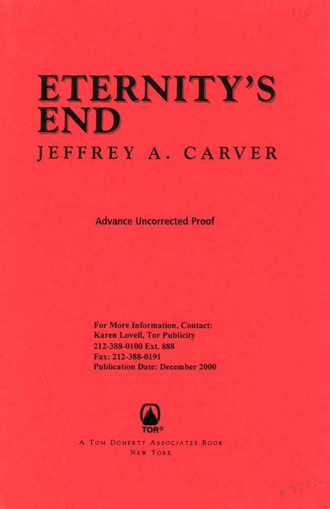 ETERNITY'S END. Jeffrey A. Carver.