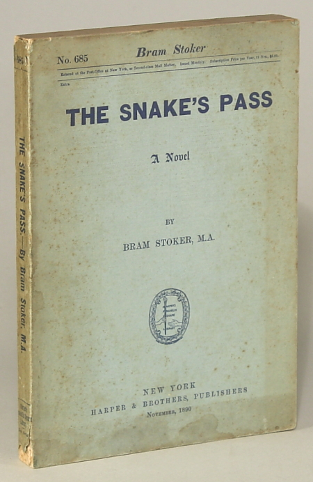 THE SNAKE'S PASS: A NOVEL. Bram Stoker.