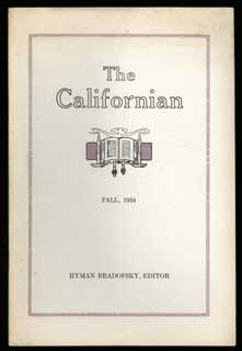 THE. Fall 1934 . CALIFORNIAN, Hyman Bradofsky, number 2 volume 2