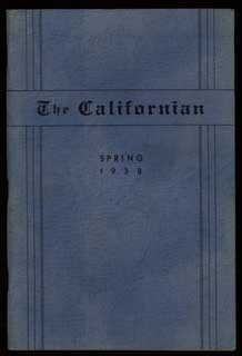 THE. Spring 1938 . CALIFORNIAN, Hyman Bradofsky, number 4 volume 5