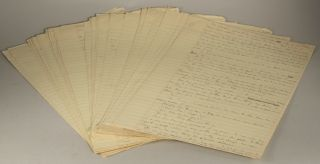 COILS [novel]. AUTOGRAPH MANUSCRIPT (AMs). The last four chapters, written single -spaced in pencil on 53 unnumbered leaves of yellow lined legal-pad paper. Roger Zelazny.