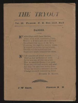 THE. November 1925 . TRYOUT, C. W. Smith, number 6 volume 10.