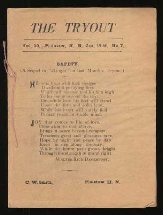 THE. January 1926 . TRYOUT, C. W. Smith, number 7 volume 10.