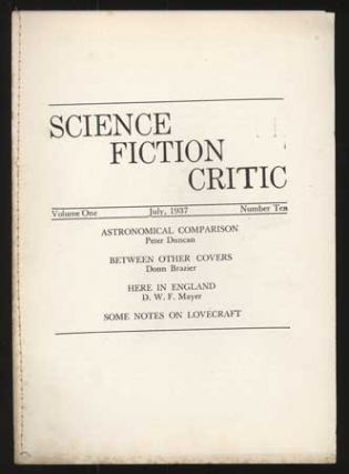 SCIENCE FICTION CRITIC. July 1937 ., Claire P. Beck, number 10 volume 1