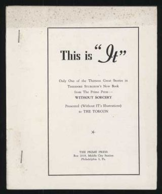 "IT. [cover title reads: THIS IS ""IT"" ONLY ONE OF THE THIRTEEN GREAT STORIES IN THEODORE..."