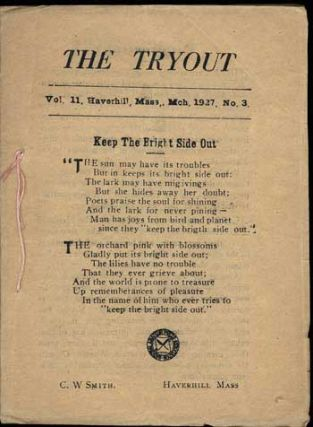 THE. March 1927 . TRYOUT, C. W. Smith, number 3 volume 11