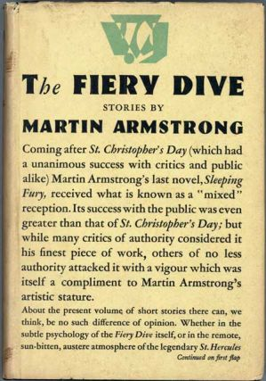 THE FIERY DIVE AND OTHER STORIES. Martin Armstrong, Donisthorpe