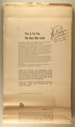 FALSE NIGHT / SOME WILL NOT DIE [novel]. Typewritten manuscript, signed (TMsS).