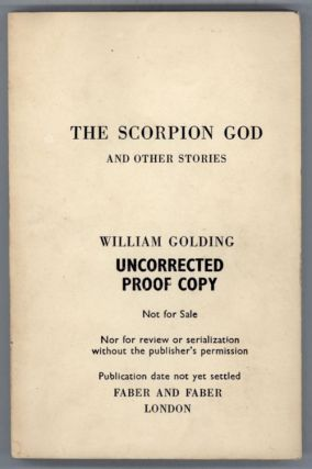 THE SCORPION GOD AND OTHER STORIES. William Golding