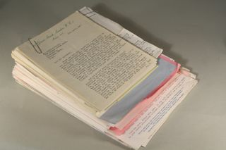 ARCHIVE OF 203 LETTERS (TLSs and ALSs) TO HIS AMERICAN LITERARY AGENT, KIRBY McCAULEY, WRITTEN...