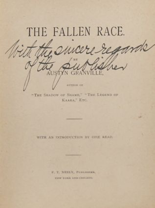THE FALLEN RACE ... With an Introduction by Opie Read.