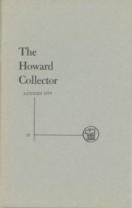 THE. Autumn 1970 . HOWARD COLLECTOR, Glenn Lord, number 1 [whole number 13 volume 3