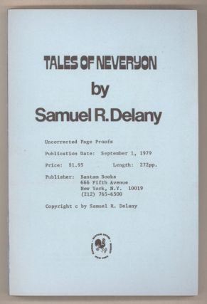 TALES OF NEVERYON. Samuel R. Delany