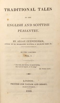 TRADITIONAL TALES OF THE ENGLISH AND SCOTTISH PEASANTRY ...