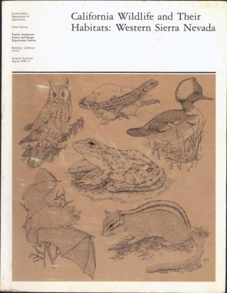 California wildlife and their habitats: Western Sierra Nevada ... Issued January 1980. JARED...