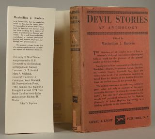 DEVIL STORIES: AN ANTHOLOGY. Lovecraft's Copy, Maximilian Rudwin
