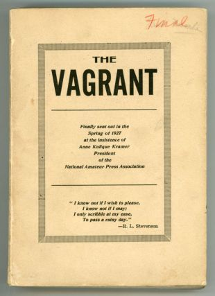 THE. Spring 1927 . VAGRANT, W. Paul Cook, number 15