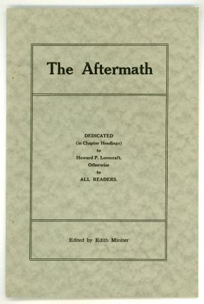THE. November 1921 AFTERMATH, Edith Miniter