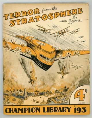 """Terror from the Stratosphere"" in CHAMPION LIBRARY. Jack CHAMPION LIBRARY. Maxwell"