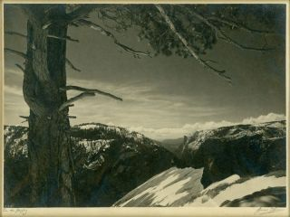 Yosemite Valley] South Rim, Yosemite. Original photograph: Parmelian print. ANSEL EASTON ADAMS