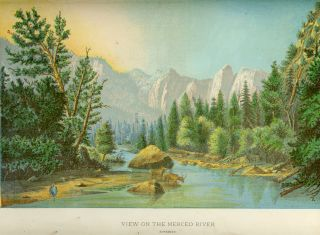 View on the Merced River (Yosemite). ANONYMOUS