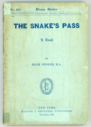 THE SNAKE'S PASS: A NOVEL. Bram Stoker