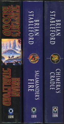 THE BOOKS OF GENESYS: SERPENT'S BLOOD, SALAMANDER'S FIRE [and] CHIMERA'S CRADLE. Brian M. Stableford